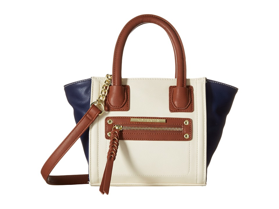 Steve Madden - Mini Hallen (Bone/Navy/Cognac) Satchel Handbags