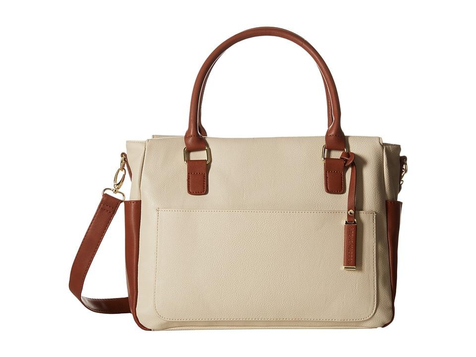 Steve Madden - Broz (Cream/Cognac/Navy) Tote Handbags