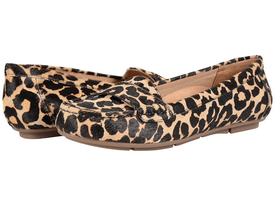 VIONIC - Chill Larrun Loafer (Tan Leopard) Women's Flat Shoes