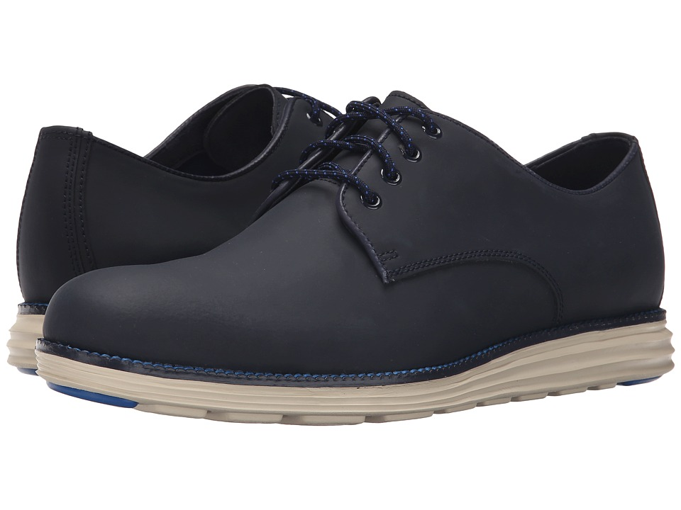Cole Haan - Original Grand Plain Oxford (Blazer Blue Matte Leather) Men's Lace up casual Shoes