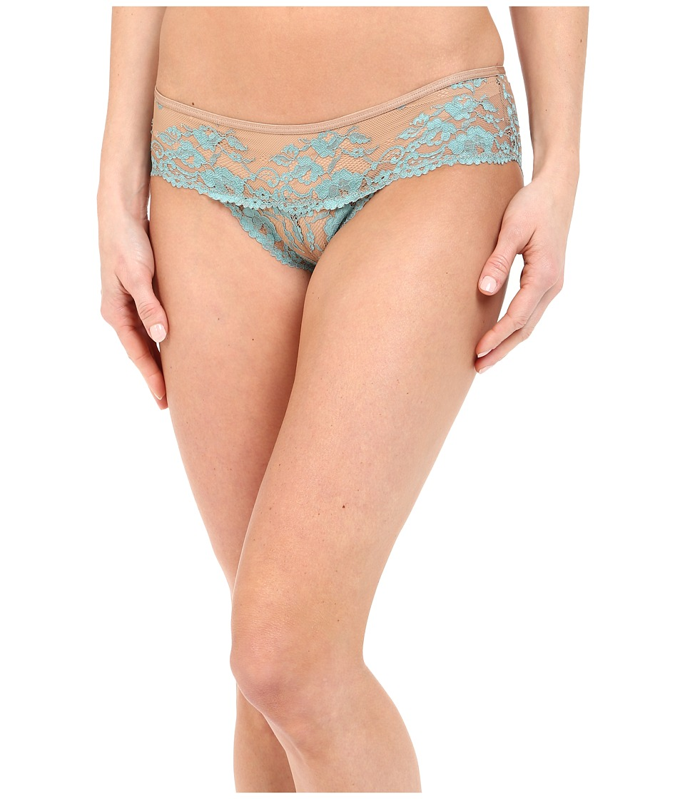 Free People - Wild Roses Hipster Undie (Nude Combo/Aqua Sea) Women