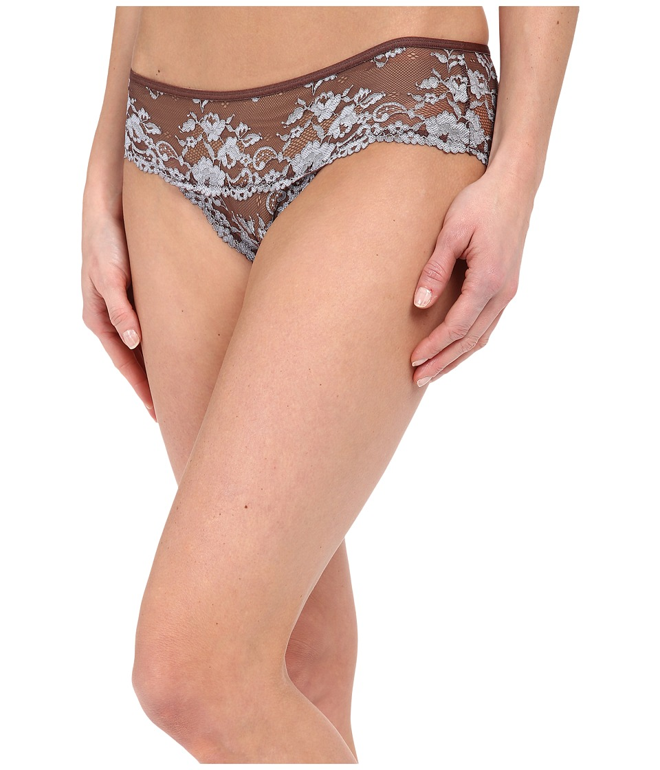 Free People - Wild Roses Hipster Undie (Mocha/Blue Mist Combo) Women's Underwear