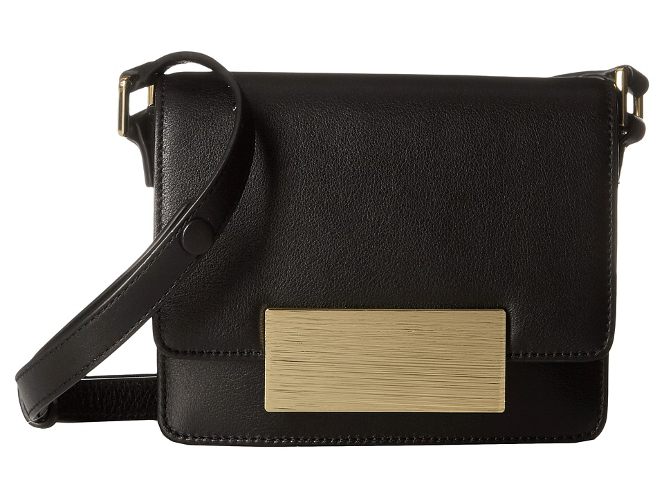 Calvin Klein - Smooth Crossbody (Black/Gold) Cross Body Handbags