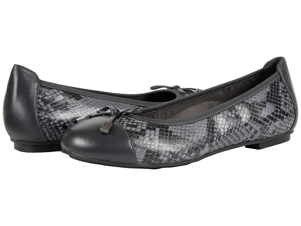 VIONIC - Minna (Grey Snake) Women's Flat Shoes
