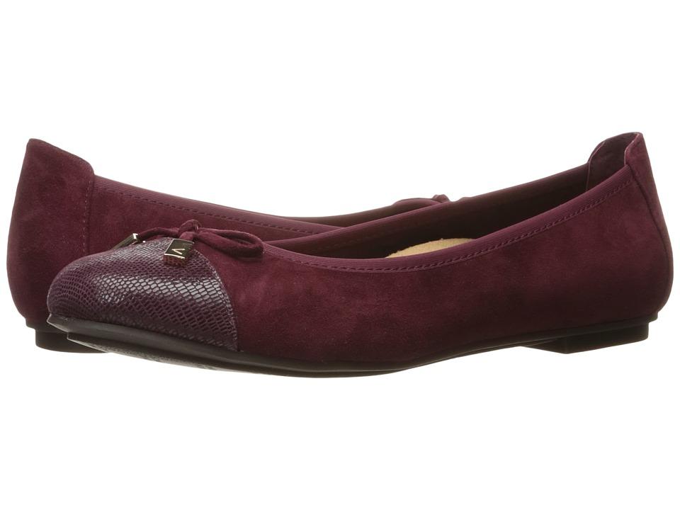 VIONIC - Spark Minna Ballet Flat (Merlot) Women's Flat Shoes