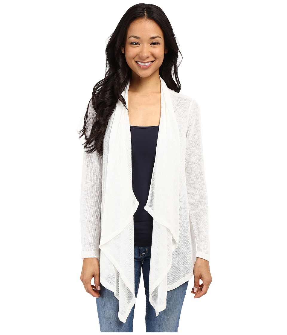 B Collection by Bobeau - Waterfall Cardigan (White) Women's Sweater