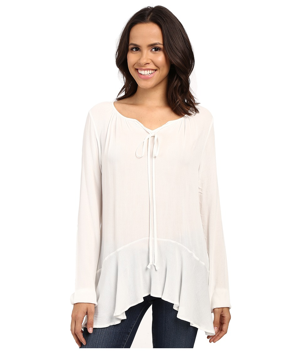 B Collection by Bobeau - Poppy Ruffle Hemline Blouse (Ivory) Women's Blouse