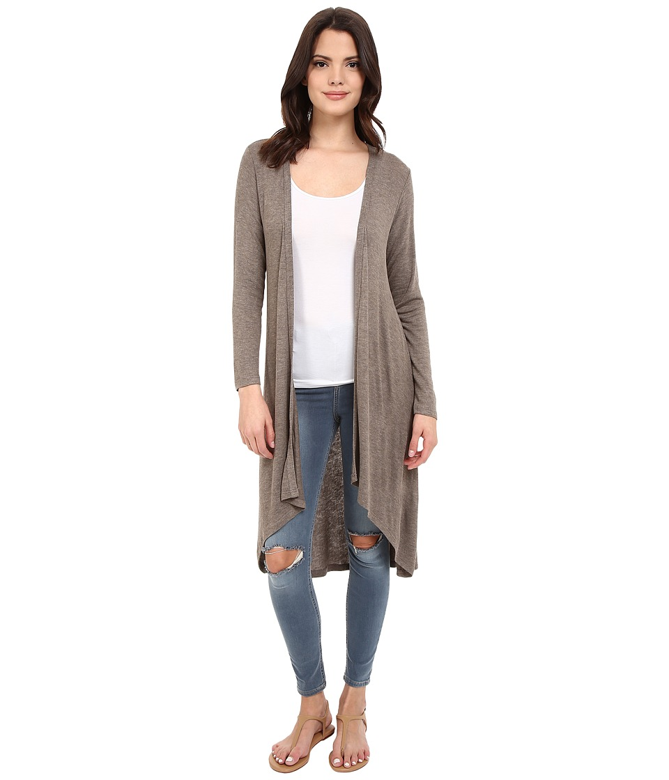 B Collection by Bobeau - Knit Duster (Taupe) Women's Sweater