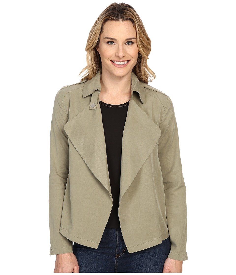 B Collection by Bobeau - Cropped Trench (Olive) Women's Coat
