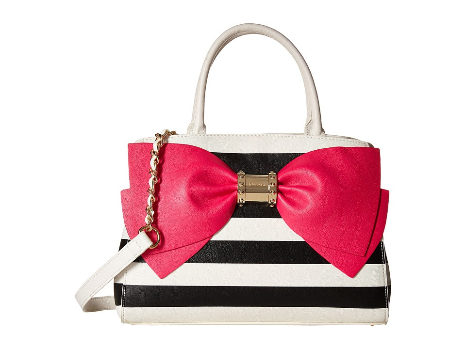 Betsey Johnson - Ready Set Bow Satchel (Stripe) Satchel Handbags
