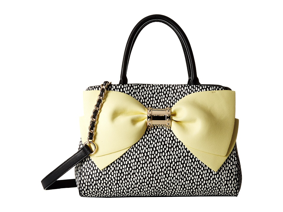 Betsey Johnson - Ready Set Bow Satchel (Yellow) Satchel Handbags