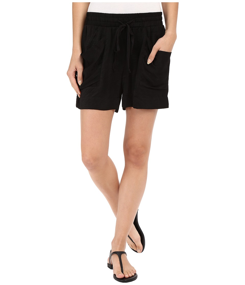 B Collection by Bobeau - Fleur Slouch Pocket Shorts (Black) Women's Shorts