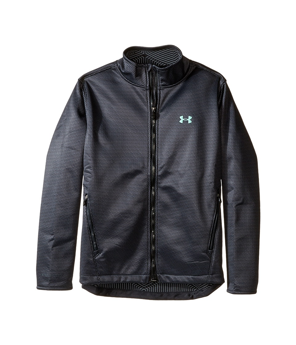 Under Armour Kids - UA CGI Softershell Jacket (Big Kids) (Stealth Gray/Stealth Gray/Crystal) Girl's Coat