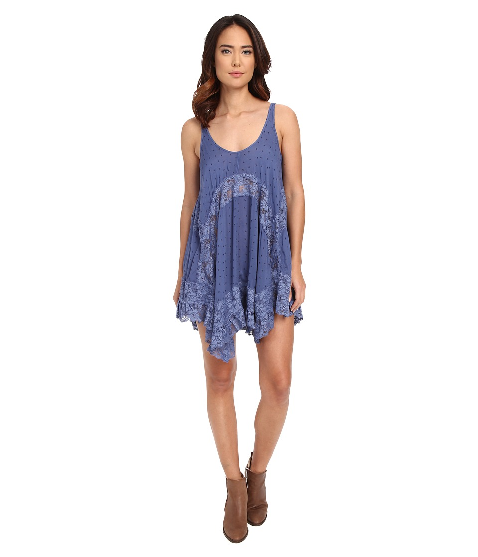 Free People - She Swings Slip Viscose Voile (Blue Bell Combo) Women's Dress