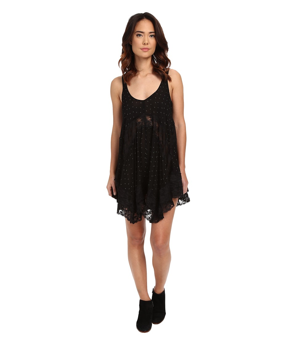 Free People - She Swings Slip Viscose Voile (Black Combo) Women's Dress