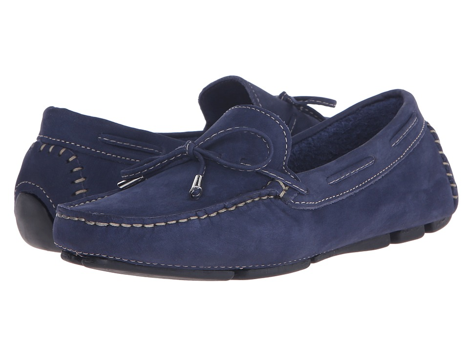 Massimo Matteo - Tie Driver (Navy Nubuck) Women's Slip on Shoes