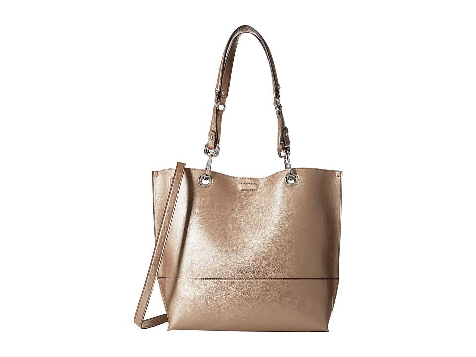 Calvin Klein - Reversible Tote (Metallic Taupe/White) Tote Handbags