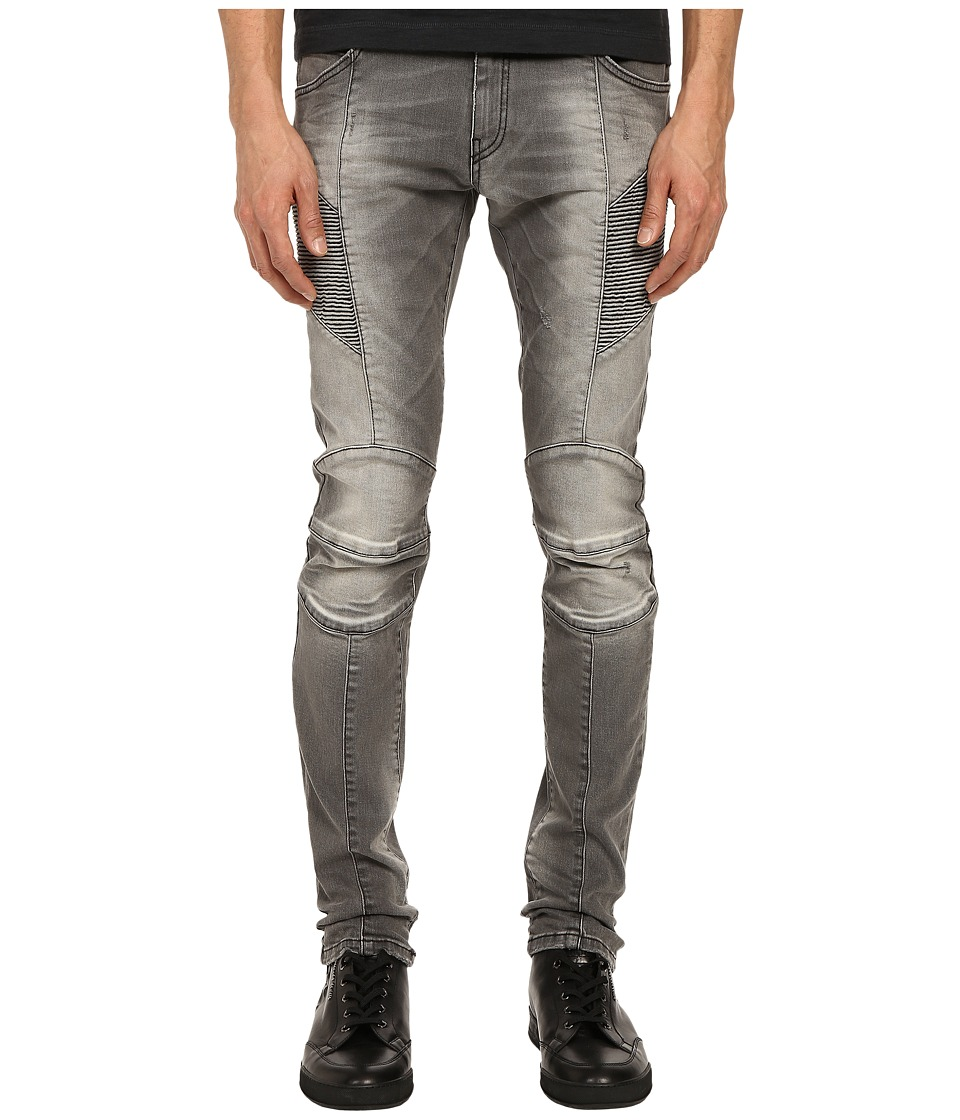 Pierre Balmain - Faded Biker Jeans (Dark Grey) Men's Jeans