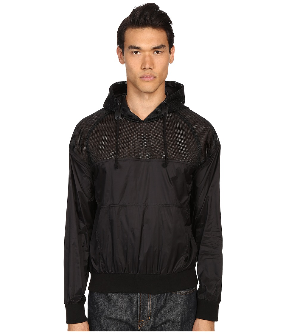 Pierre Balmain - Mesh Track Jacket with Hood (Black) Men's Sweatshirt