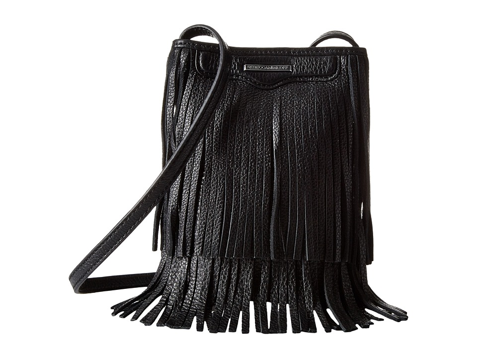 Rebecca Minkoff - Finn Phone Crossbody (Black) Cross Body Handbags