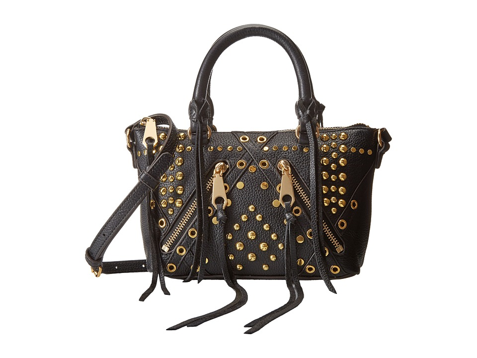 Rebecca Minkoff - Micro Moto Satchel with Studs (Black) Satchel Handbags