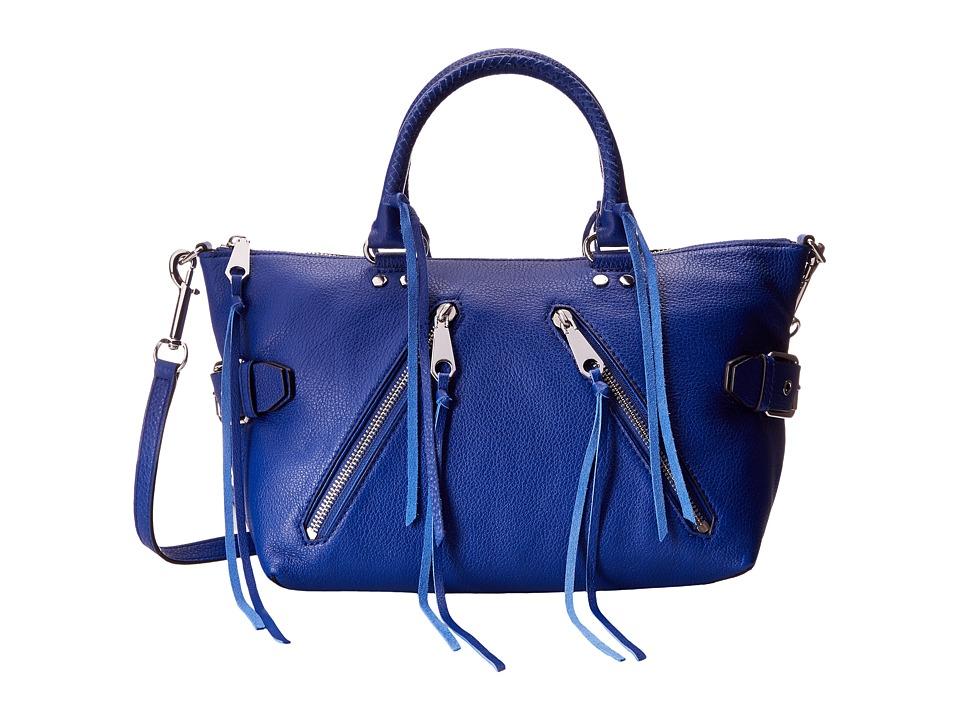 Rebecca Minkoff - Moto Satchel Tote (Cobalt) Tote Handbags