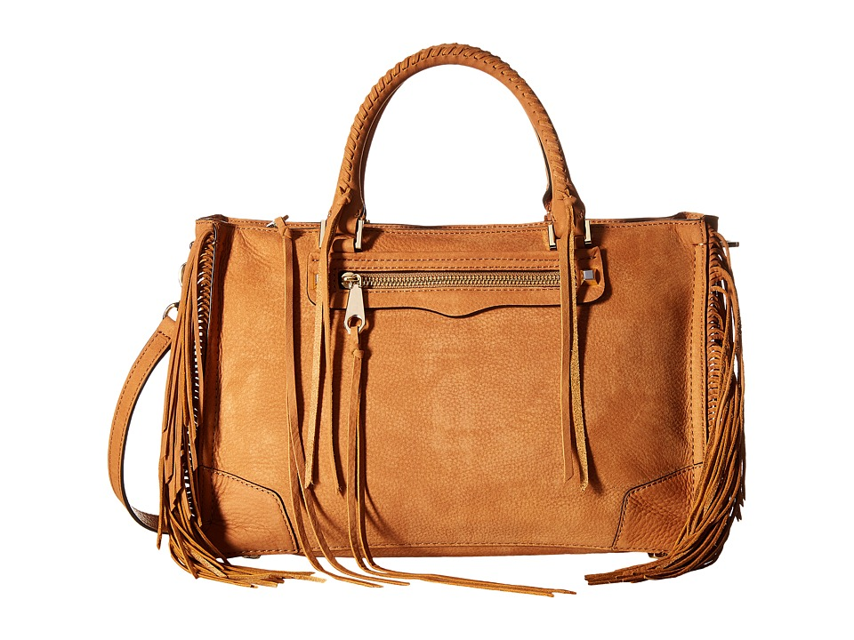 Rebecca Minkoff - Fringe Regan Satchel Tote (Almond) Satchel Handbags