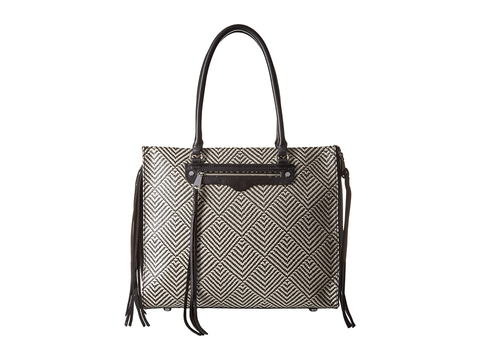 Rebecca Minkoff - Side Zip Regan Tote (Black Multi) Tote Handbags