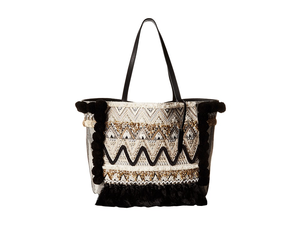 Rebecca Minkoff - Taj Tote (Black/White Multi) Tote Handbags