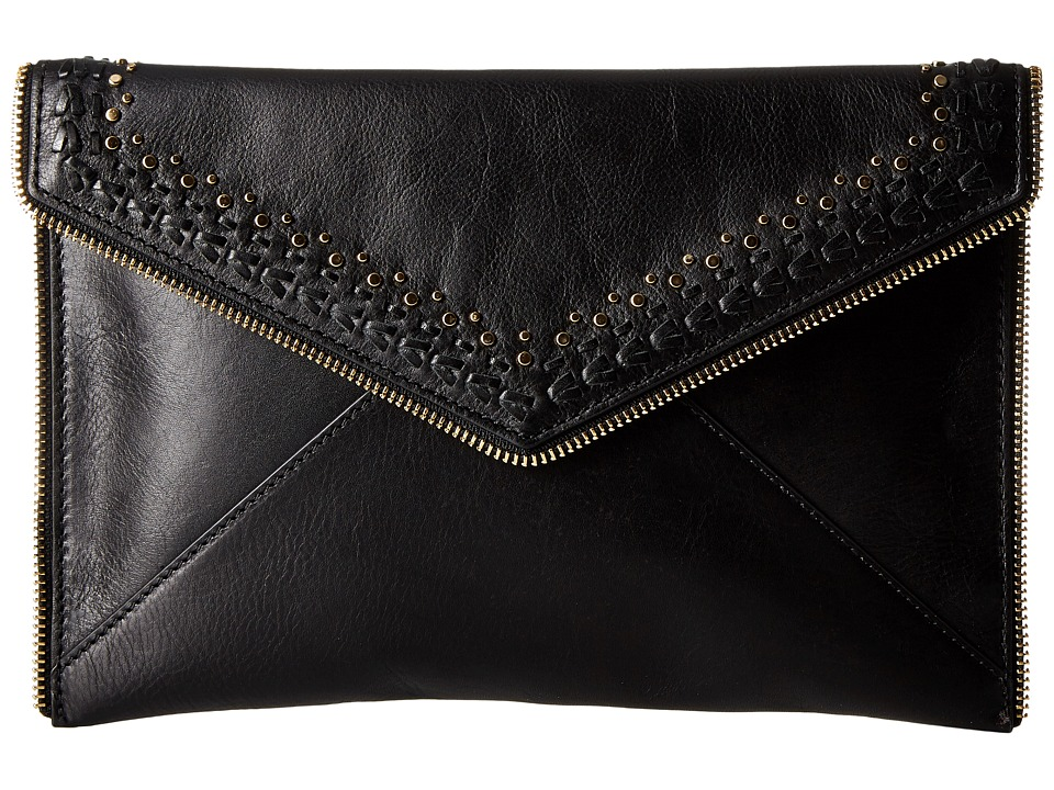 Rebecca Minkoff - Leo Clutch with Studs (Black) Clutch Handbags