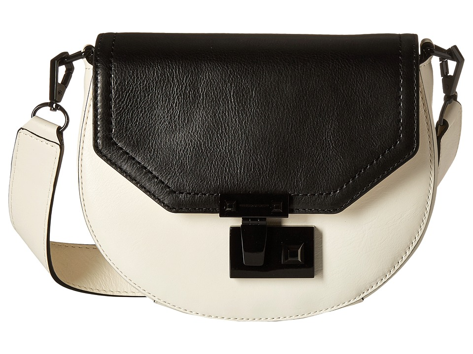 Rebecca Minkoff - Medium Paris Saddle Bag (Antique White/Black) Handbags