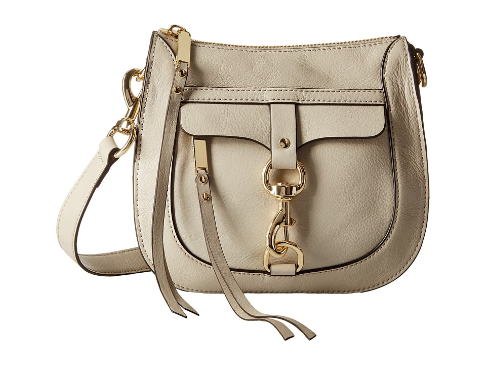 Rebecca Minkoff - Dog Clip Saddle Bag (Khaki) Handbags