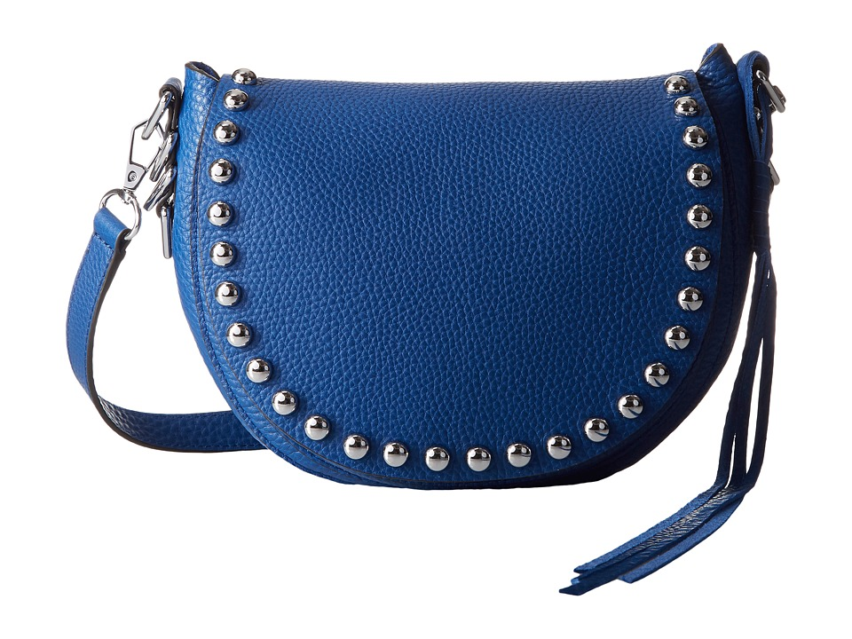 Rebecca Minkoff - Unlined Saddle Bag (Cobalt) Cross Body Handbags