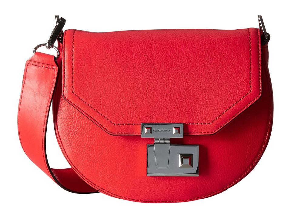 Rebecca Minkoff - Paris Saddle Bag (Dragon Fruit) Handbags