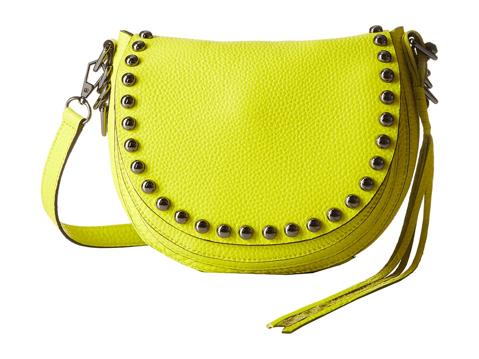 Rebecca Minkoff - Unlined Saddle Bag (Limeade) Cross Body Handbags