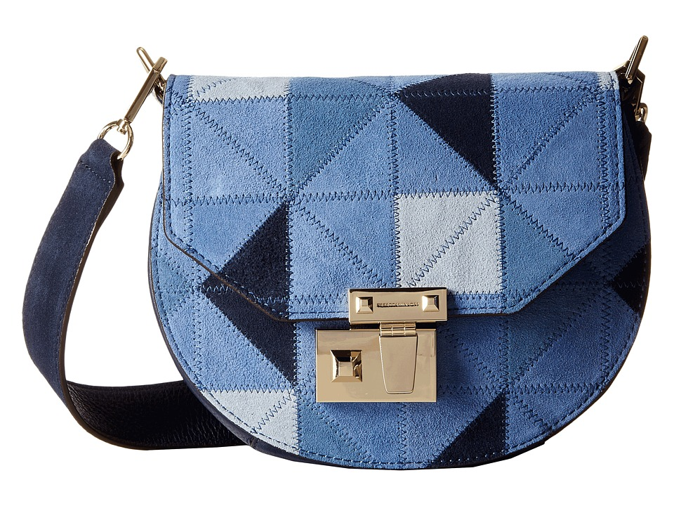 Rebecca Minkoff - Paris Saddle Bag (Blue Multi) Handbags