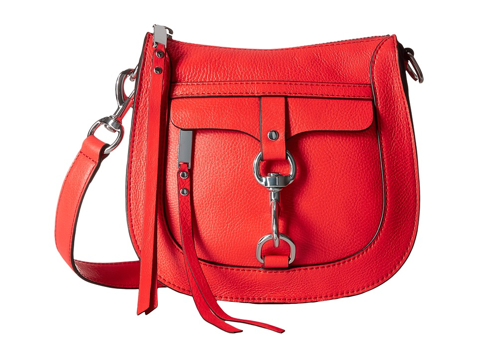 Rebecca Minkoff - Dog Clip Saddle Bag (Dragon Fruit) Handbags