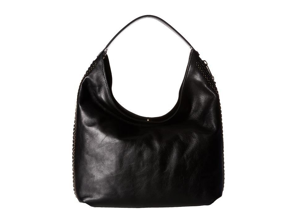 Rebecca Minkoff - Bryn Double Zip Hobo with Studs (Black) Hobo Handbags