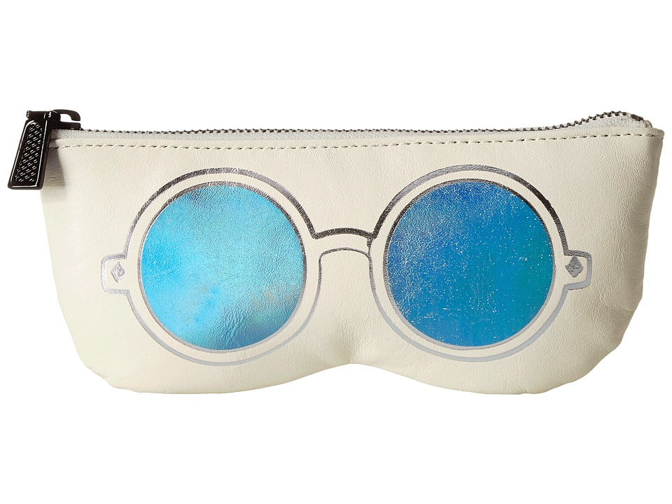 Rebecca Minkoff - Mirrored Sunnies Pouch (Antique White) Travel Pouch