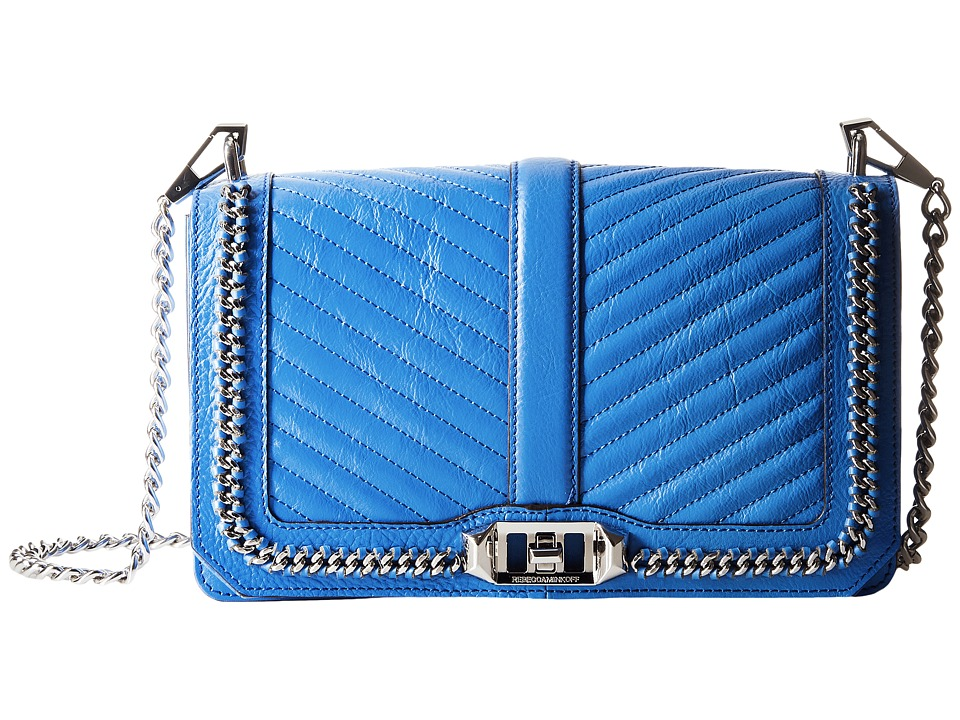 Rebecca Minkoff - Love Crossbody (Denim Blue) Cross Body Handbags
