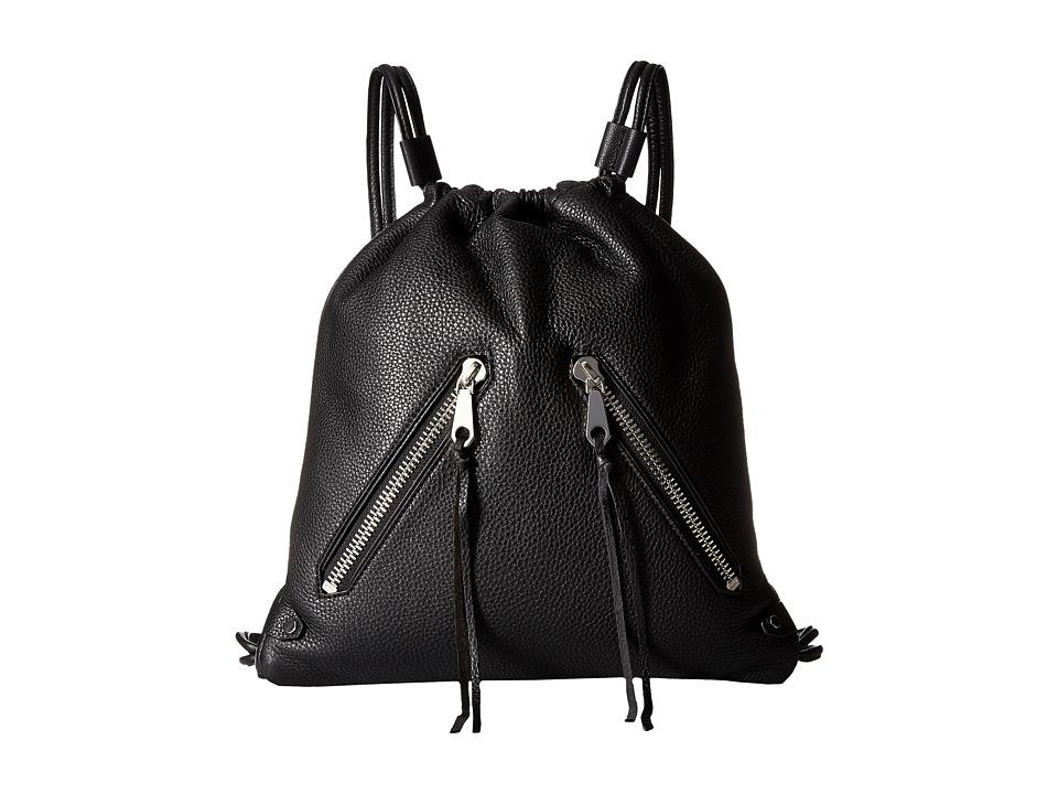 Rebecca Minkoff - Moto Drawstring Backpack (Black) Backpack Bags