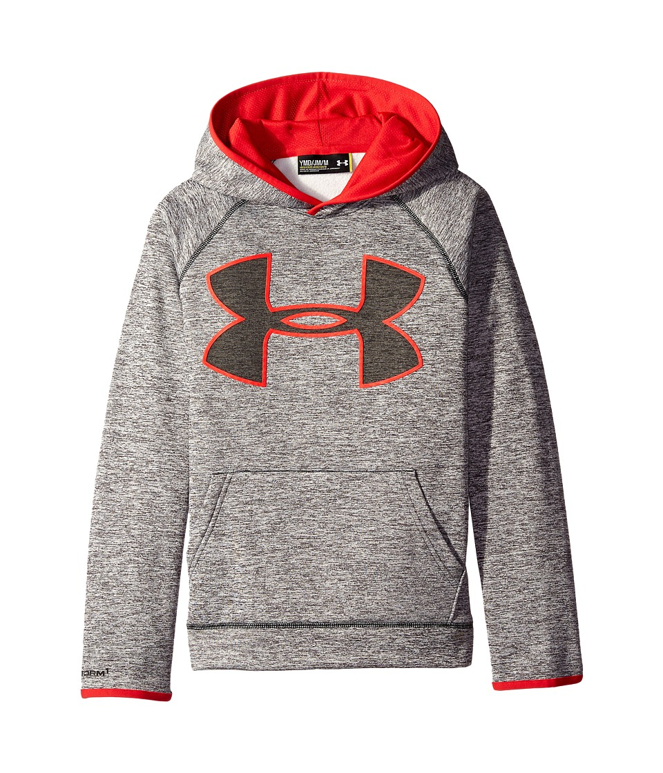 Under Armour Kids - Armour Fleece Storm Twist Highlight Hoodie (Big Kids) (Black/Red/Black) Boy's Sweatshirt