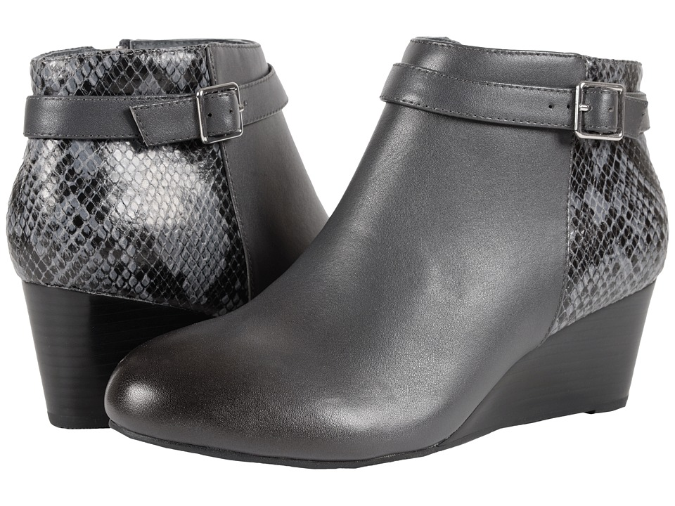 VIONIC - Elevated Shasta Wedge Boot (Grey Snake) Women's Wedge Shoes