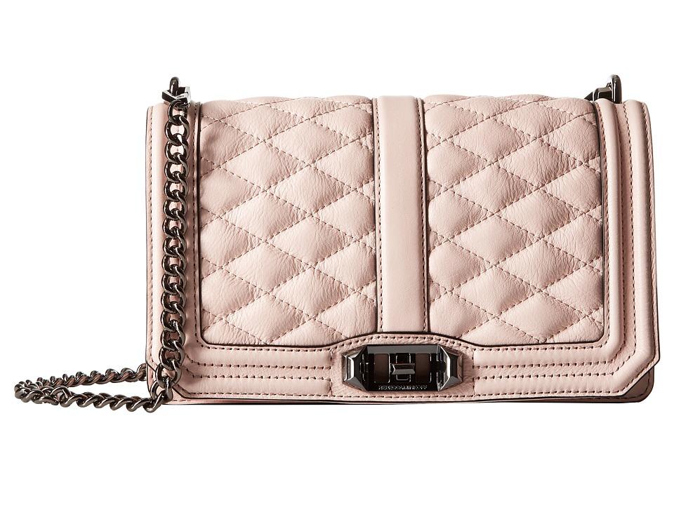 Rebecca Minkoff - Love Crossbody (Pale Blush) Cross Body Handbags