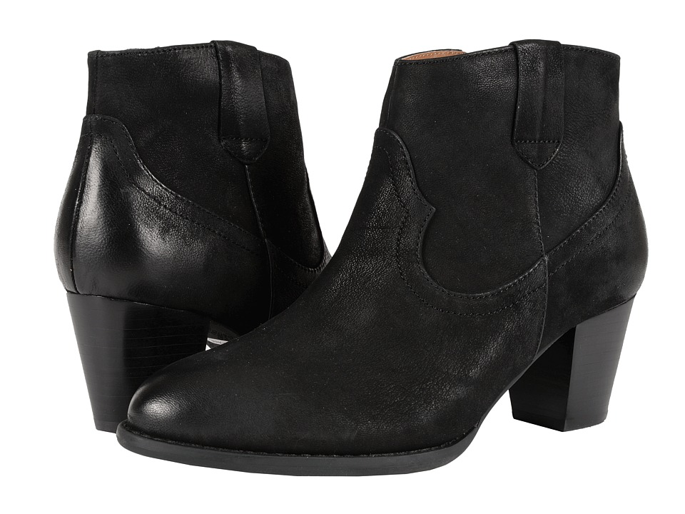 VIONIC - Upright Windom Western Ankle Boot (Black) Women's Pull-on Boots