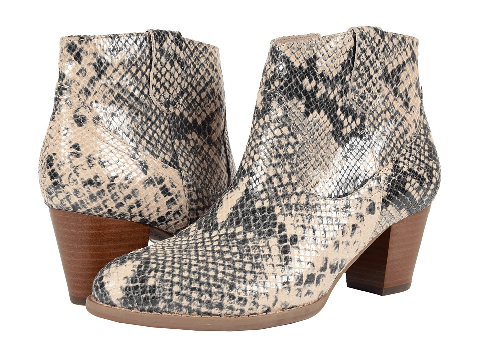 VIONIC Upright Windom Western Ankle Boot (Natural Snake) Women