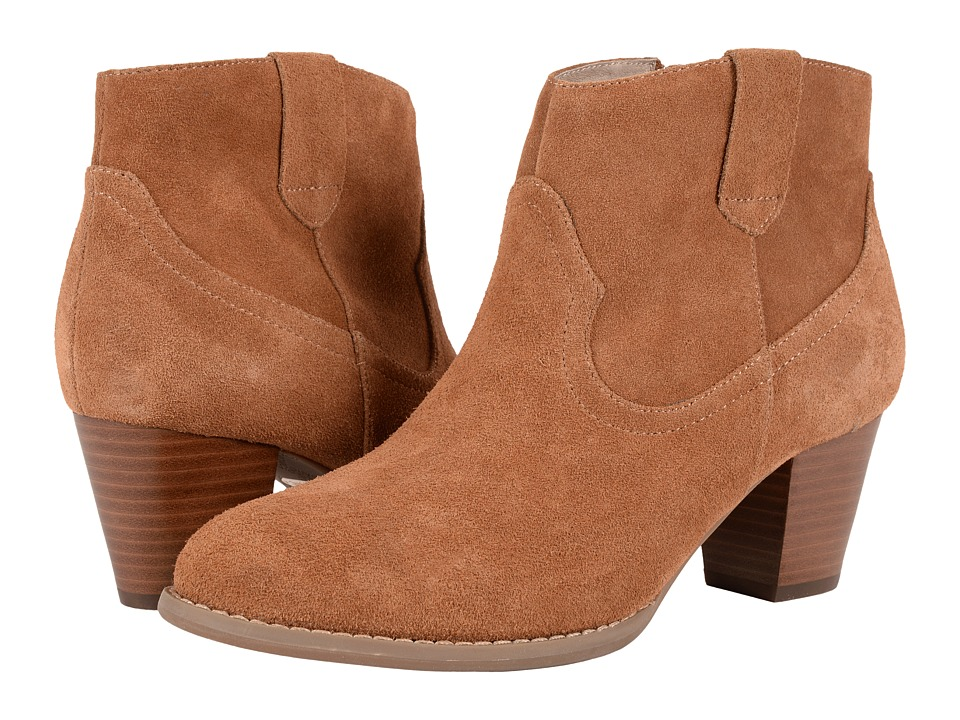 VIONIC - Upright Windom Western Ankle Boot (Saddle) Women's Pull-on Boots