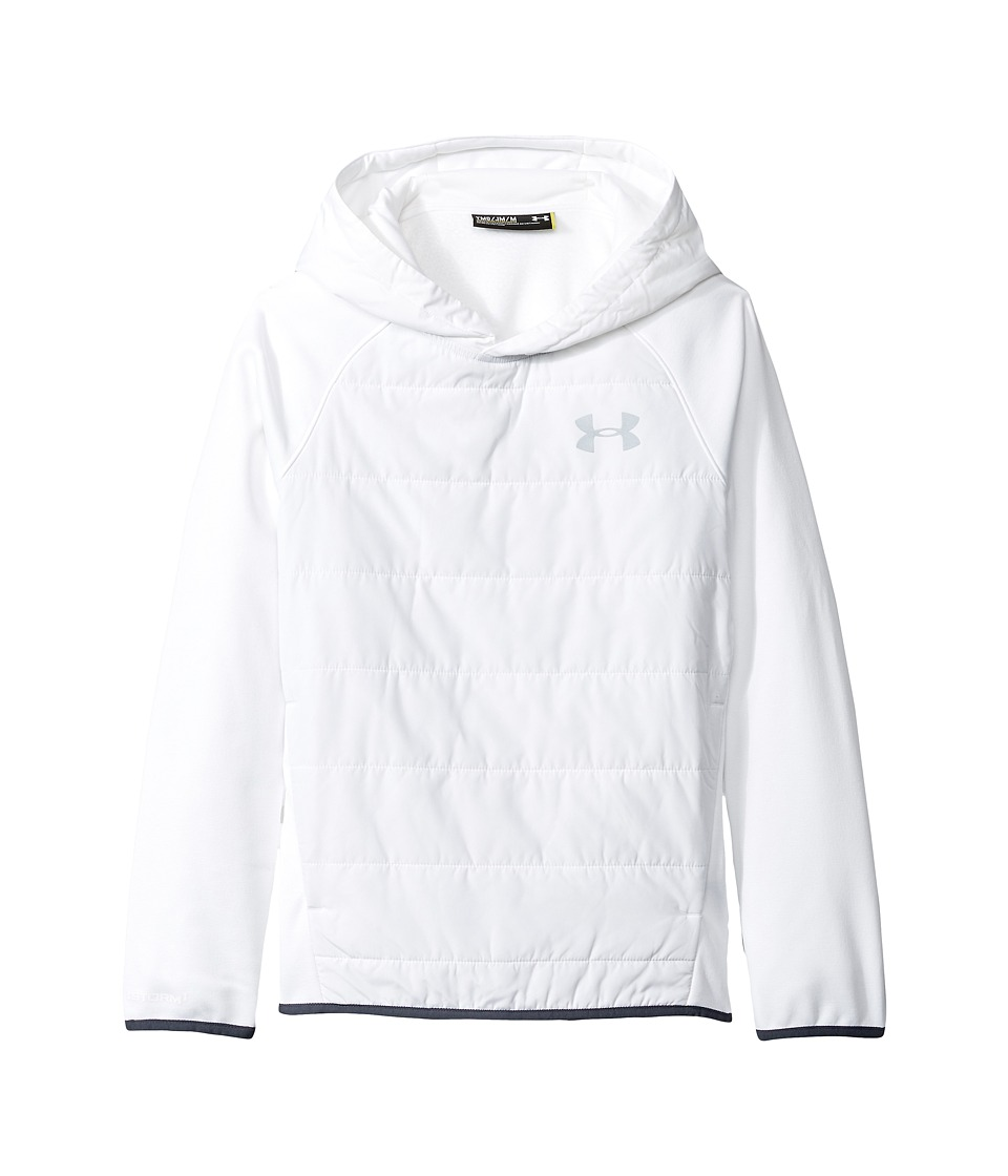 Under Armour Kids - UA Swacket Insulated Hoodie (Big Kids) (White/White/Silver) Boy's Sweatshirt
