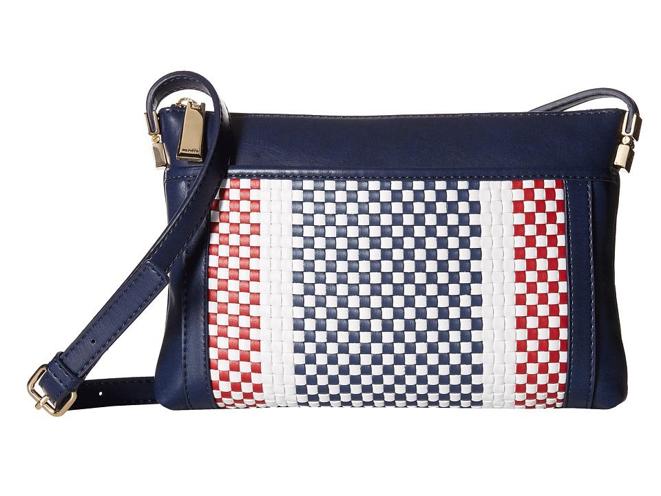 Tommy Hilfiger - Hinge - Woven/Smooth Envelope (Navy) Cross Body Handbags