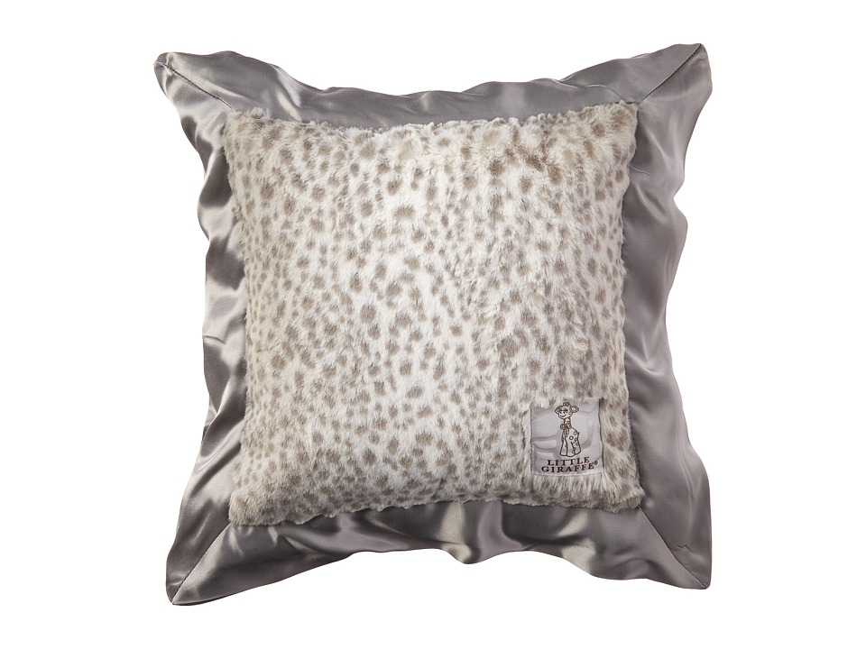 Little Giraffe - Luxe Throw Pillow (Snow Leopard) Sheets Bedding